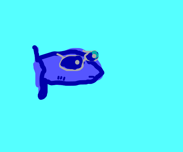 Fish with glasses