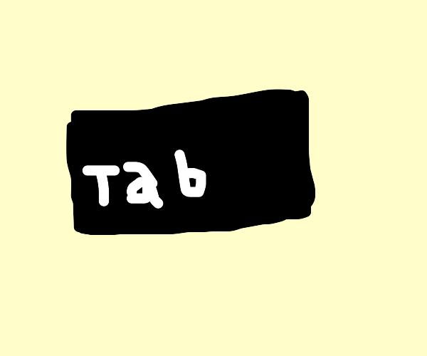 draw the entire tab