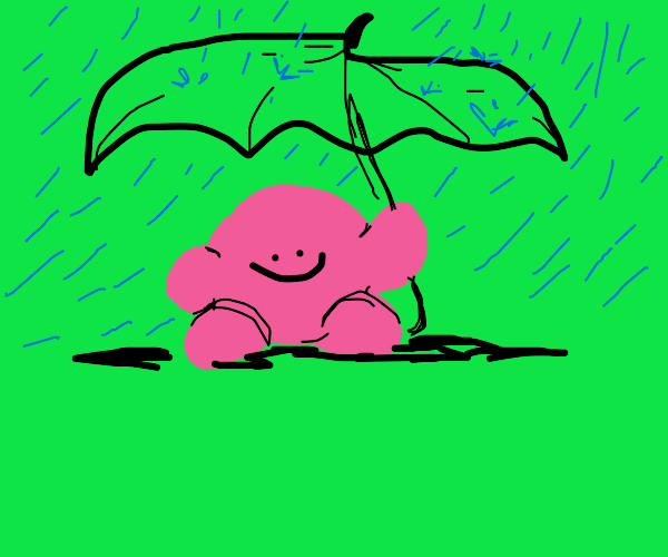 Kirby with an umbrella