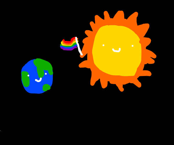 The sun comes out of the closet to Earth