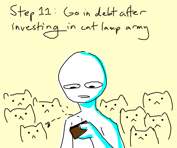Step 10: Invest in an army of cat lamps