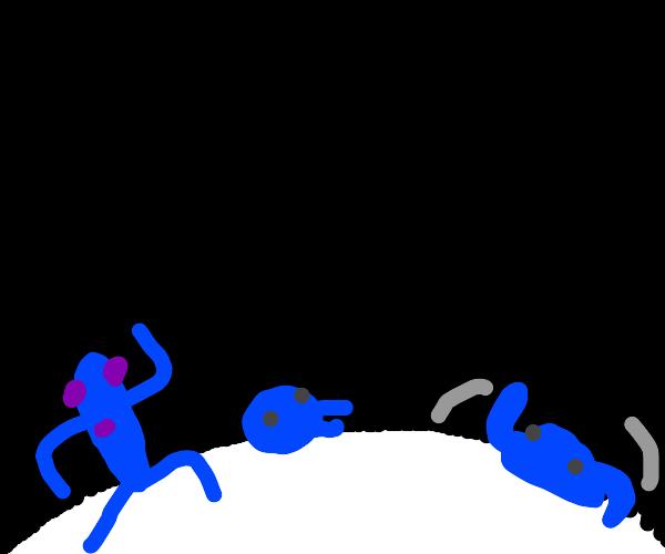 Blob alien dance party