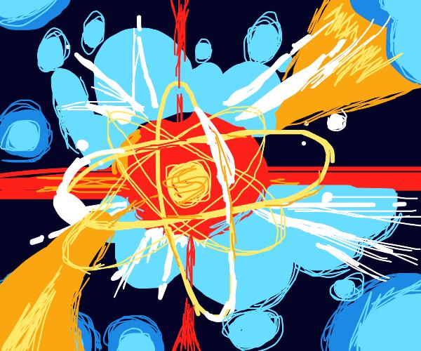 An atom bursting