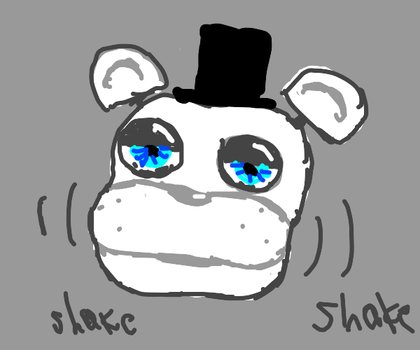 fnaf type of white bear taking his head off
