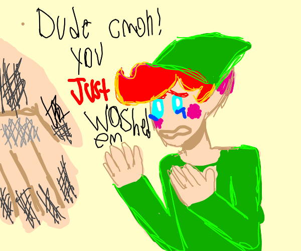 Elf saddened by dirty hand