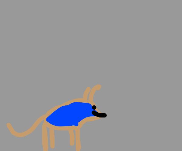 derpy ram in a blue sweater