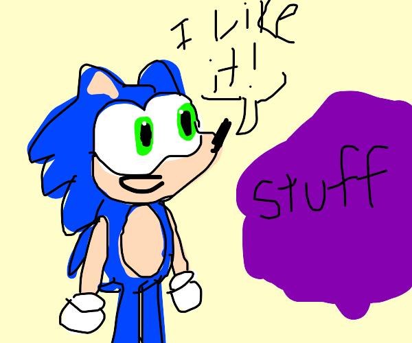 Sonic likes stuff