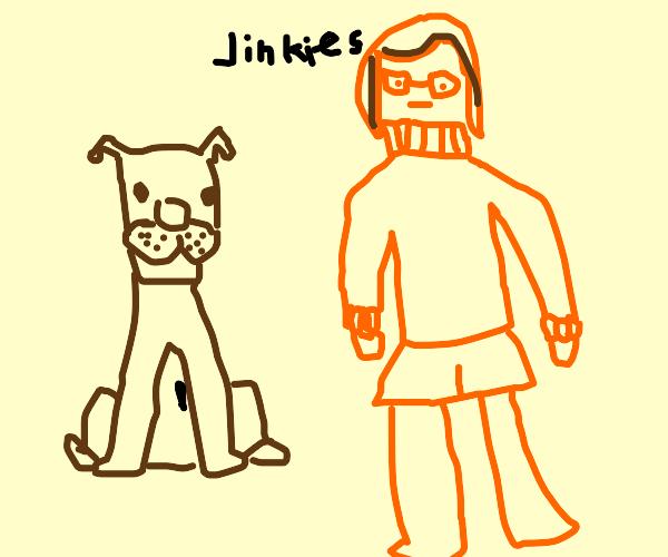 Scooby-doo and Velma