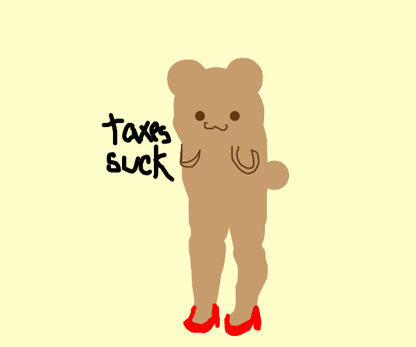 hamster with fine legs committing tax evasion