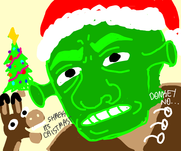 Shrek has christmas