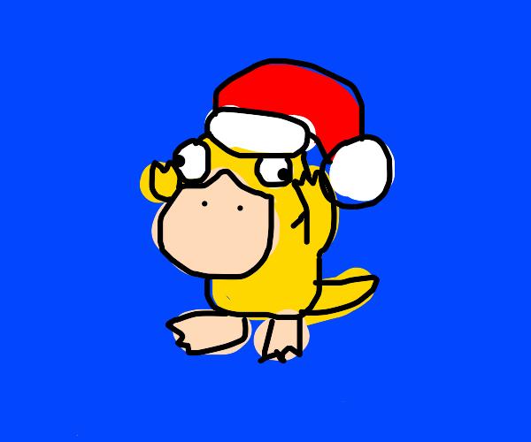 A Christmas Psyduck