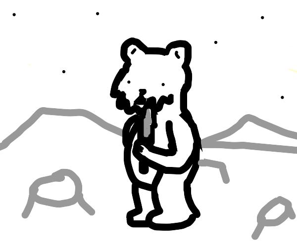 desmond the moon bear stabs the moon