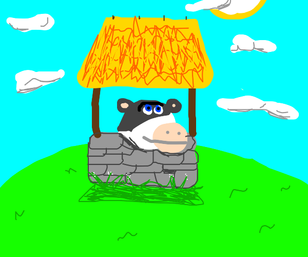 A cow has fallen down the well!
