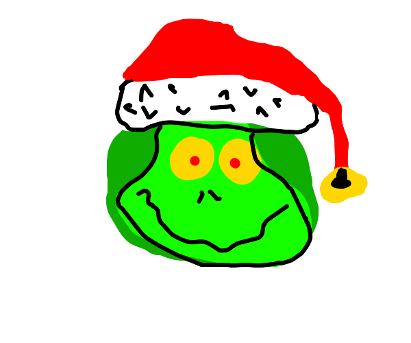 Sexy grinch dragon holds sleigh