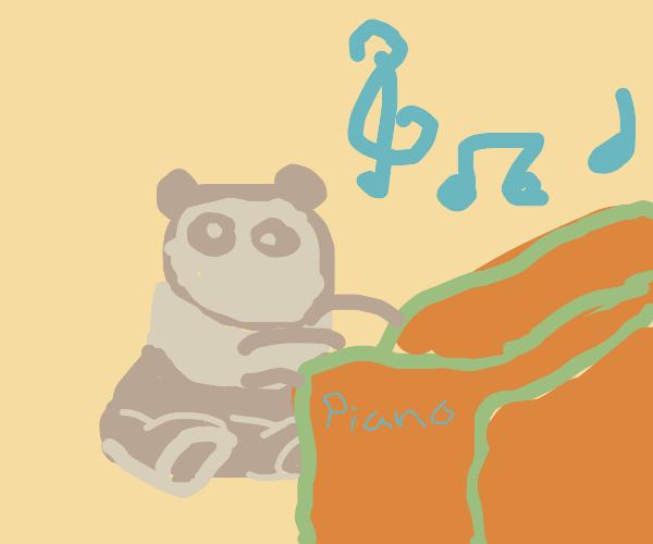 Panda playing piano