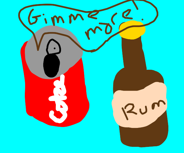 a coke can wants more rum