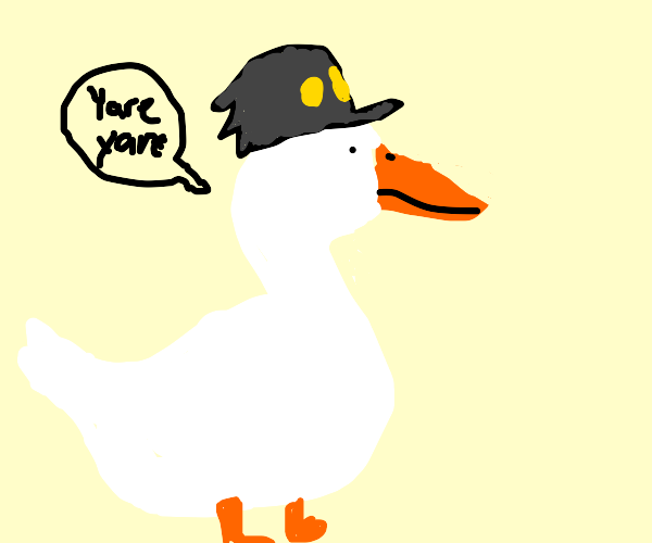Jotaro as a duck
