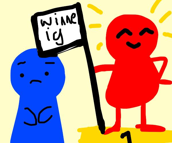 Blue doesn't win a battle.