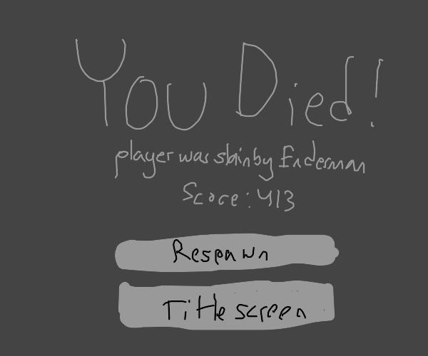 minecraft death screen