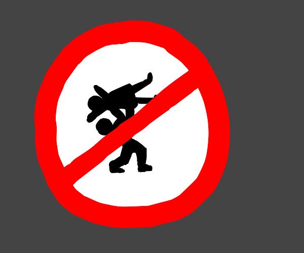 Throwing women not allowed