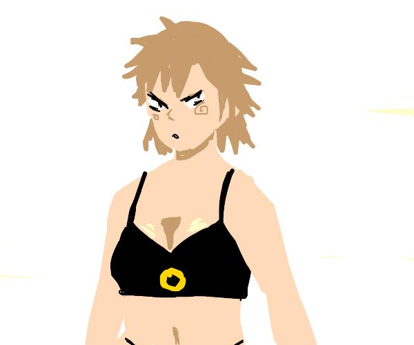 Bakugou's mum in a bikini