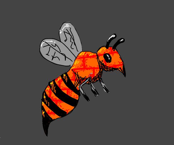 Wasp with brick wall skin