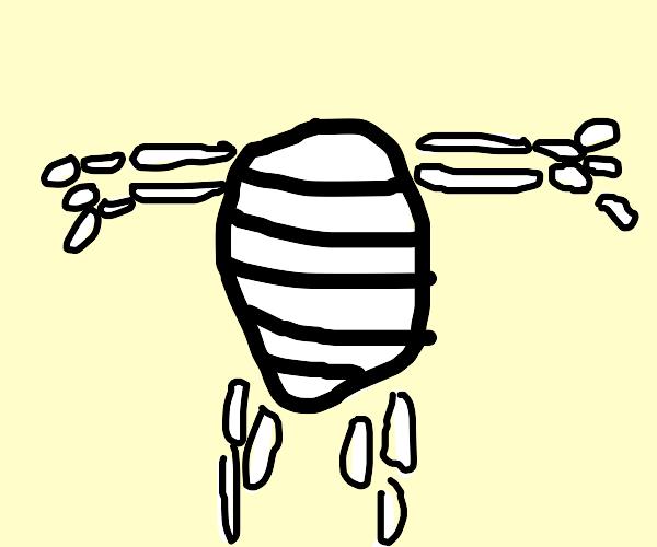 A skeleton cocoon