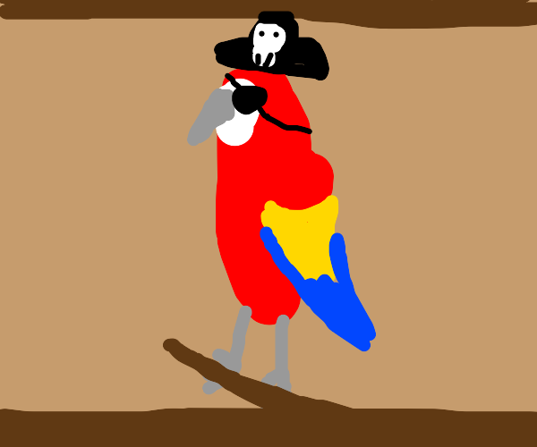 Pirate parrot with eyepatch