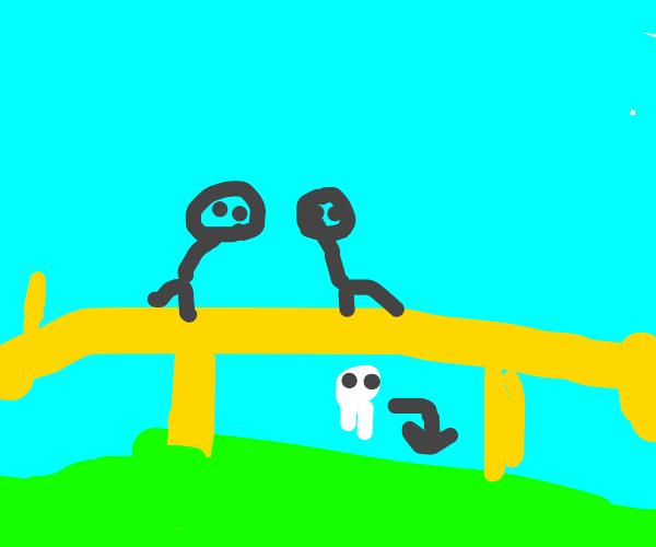 Golden Bridge over an Acid Pool