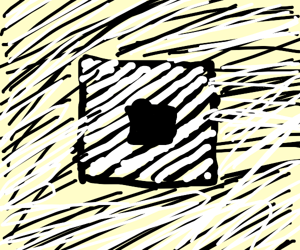Striped square with square hole.