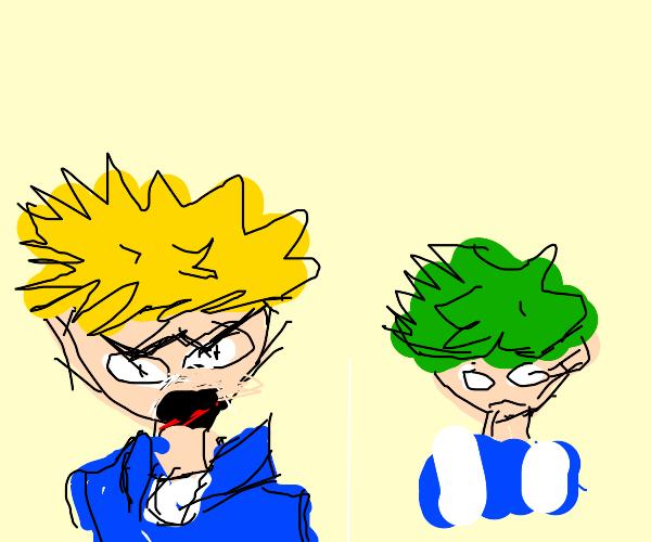 Bakugu screaming at deku
