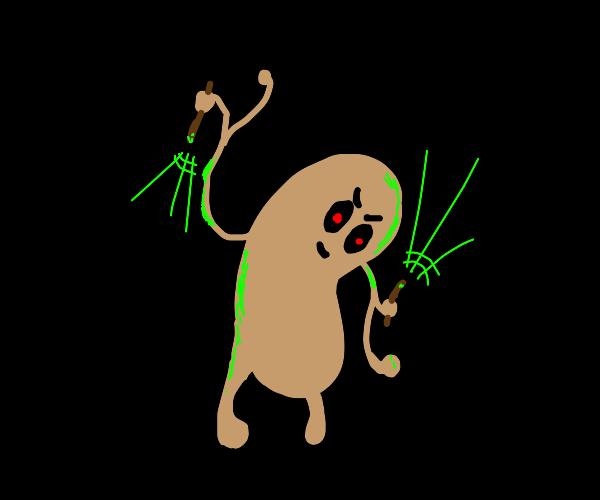 Evil potato man