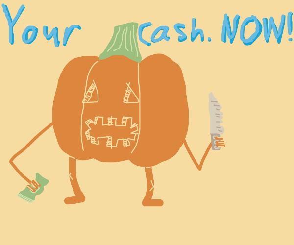 Pumpkin criminal makes demands