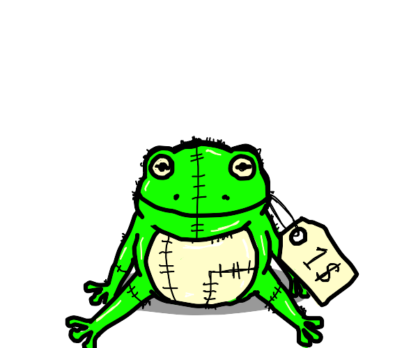 frog toy costs $1