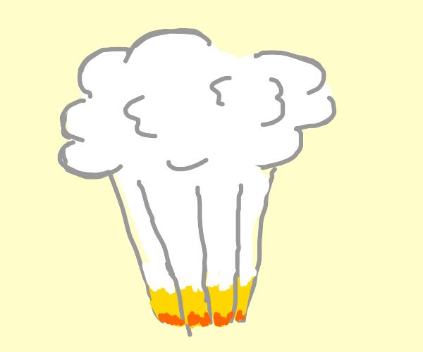Epic explosion.