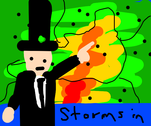 Abraham Lincoln reporting the weather