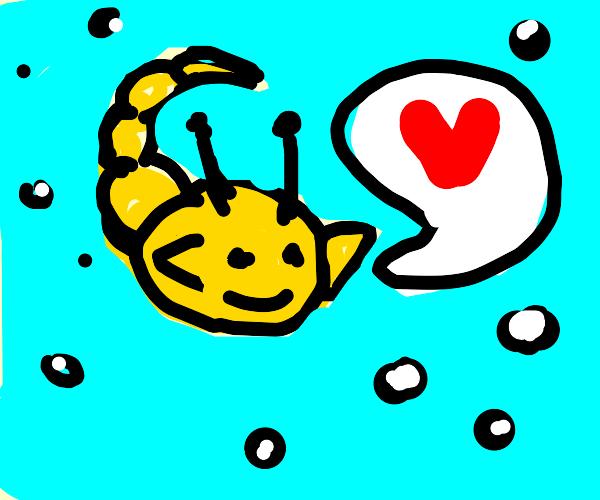 scorpion/slug/fish in love