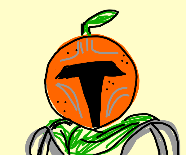 The Mandalorian, but mandalorian is an orange