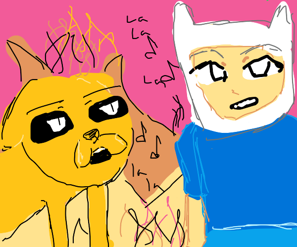Finn and Jake singing in hell