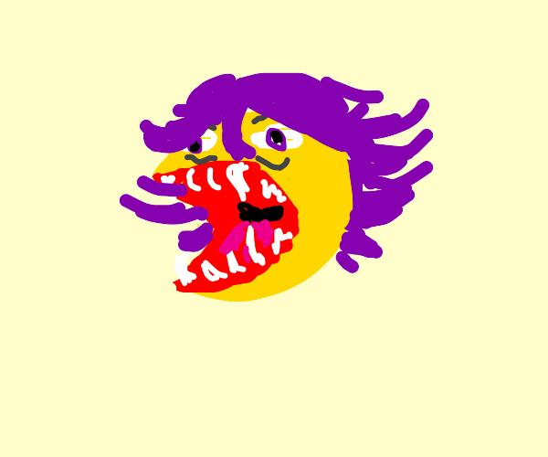 Kokichi Ouma with a distorted face