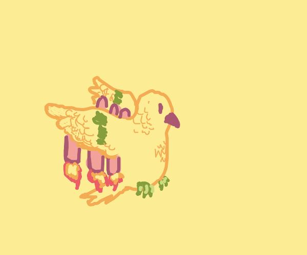 Rocket powered bird