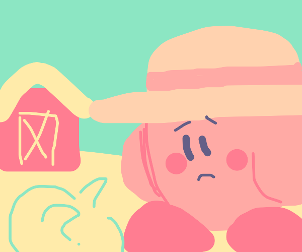 Farmer Kirby is bored