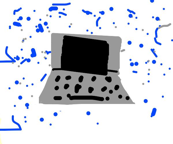 Laptop in a Blizzard