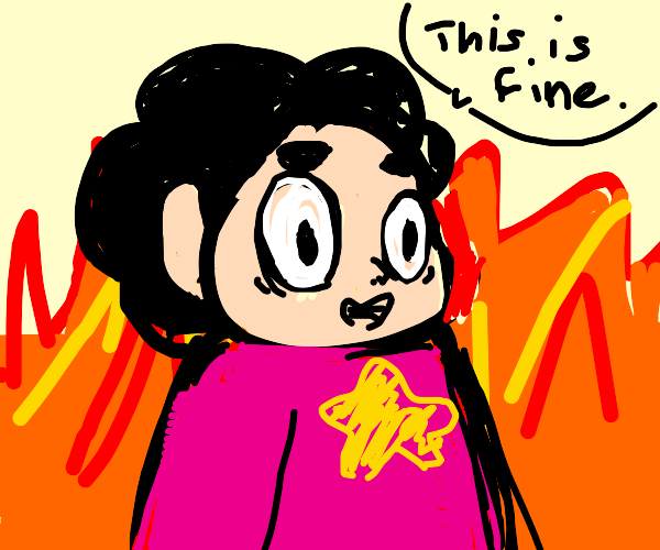 "Steven Universe saying ""this is fine"""