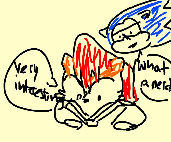 Sally reads