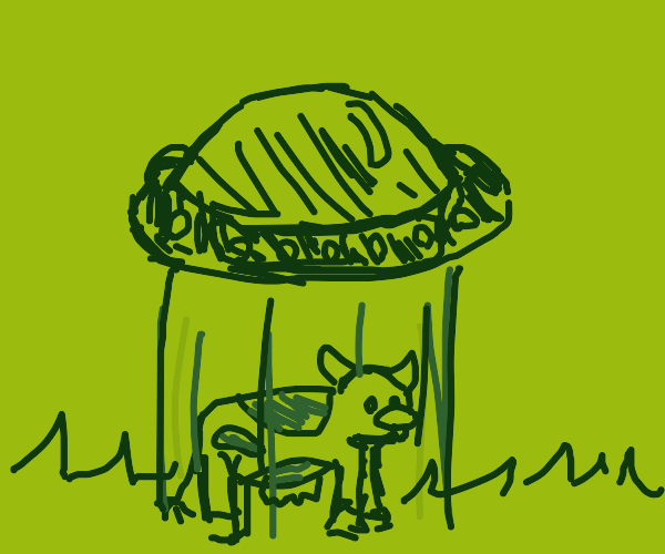 Aliens abduct a cow
