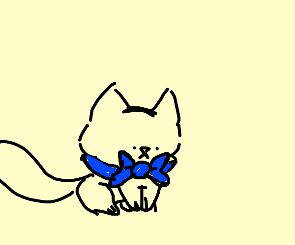 Cat with a bow