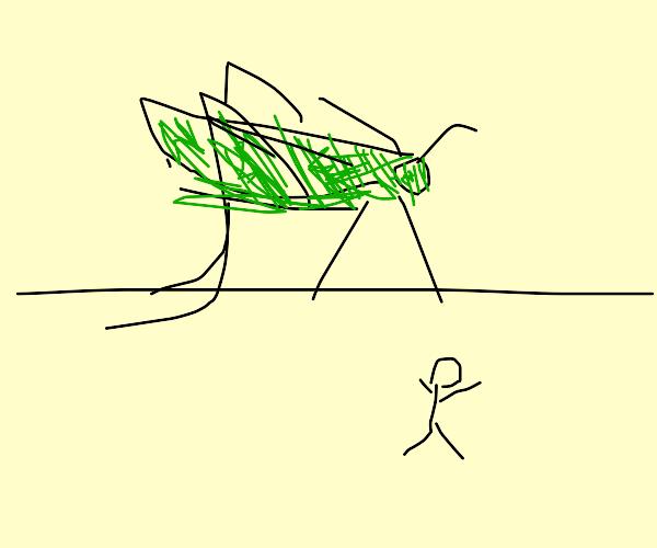 8m tall grasshopper