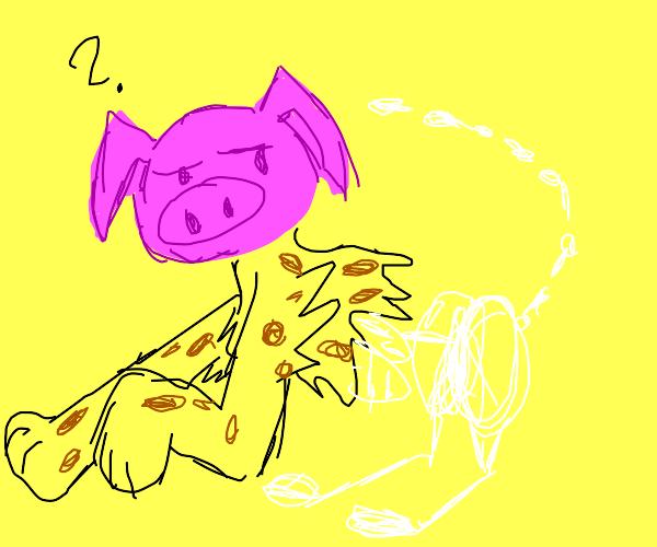 Pig-Cheetah-Skeleton Hybrid
