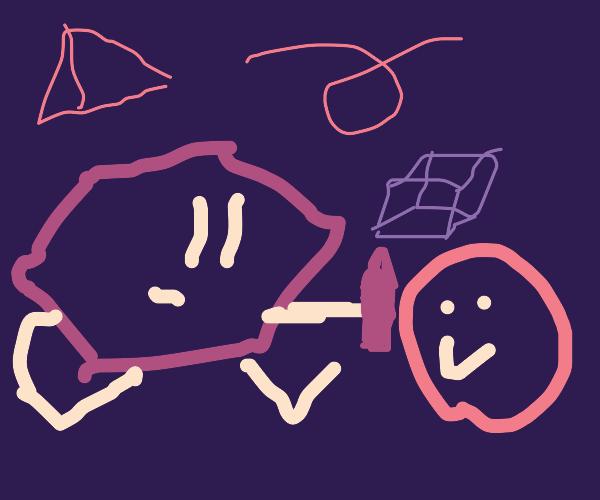 Hexagon draws its BFF, Circle